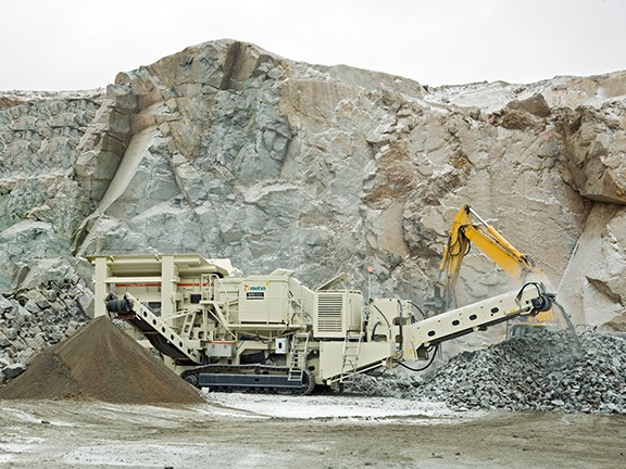 The Metso LT125 mobile crusher.