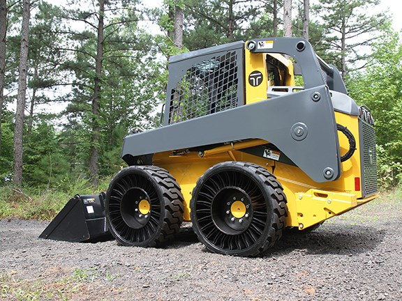 The Michelin 12N16.5 X Tweel SSL All Terrain airless tyre for skid-steer loaders.