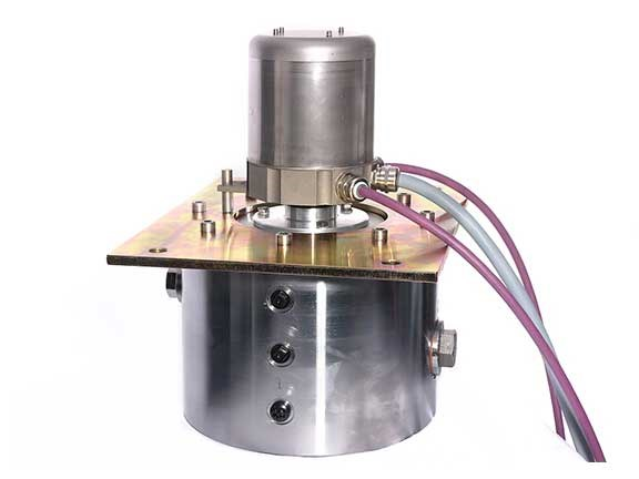 Display of Morgan encoder and slip ring combo