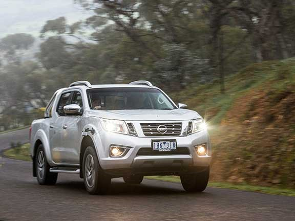 Nissan Navara ute with full tray