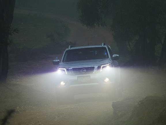 Nissan Navara driving at night