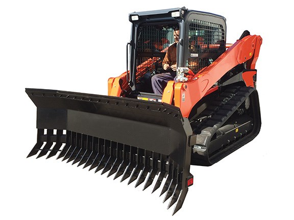 The Norm Engineering dozer blade stick rake.