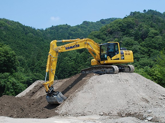 EFFICIENCY WINNER: Komatsu PC210i-10 excavator with Intelligent Machine Control designed to make machine operation easier and more accurate.