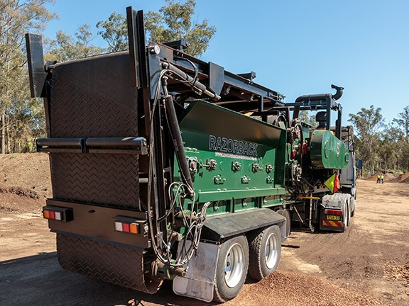 The Redback Razorback greenwaste grinder