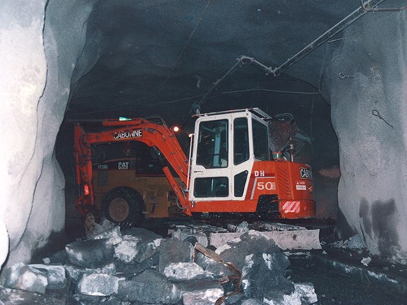 Maximum utilisation of excavators: when Ron took them underground, some stayed there for two years.
