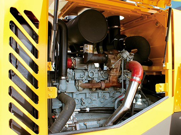 The SDLG LG938L wheel loader's power is provided by a Deutz six-litre, six-cylinder engine.