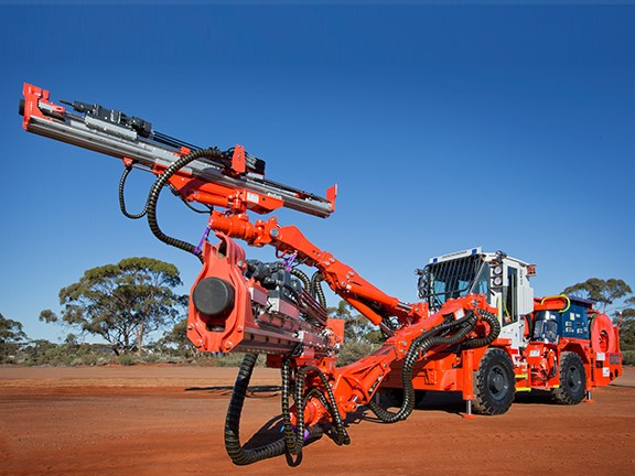 AFTER: The Sandvik DD420 drill rig after its as-new rebuild.