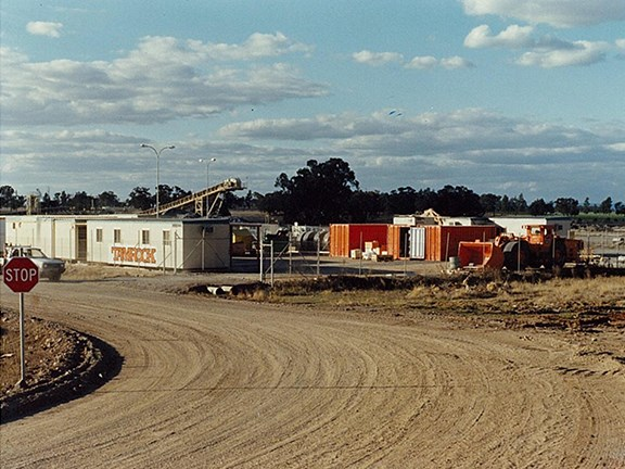 THEN: Northparkes Mines' Tamrock office in 1995.