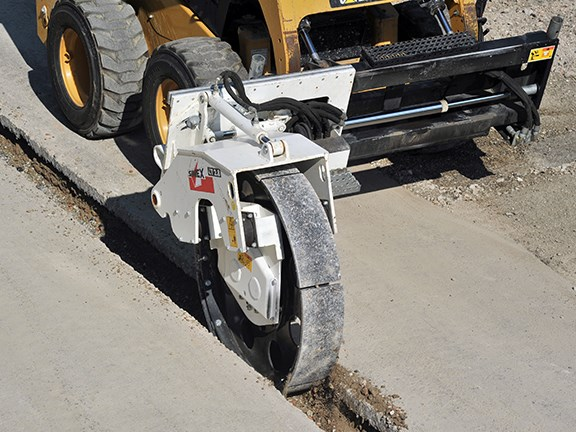 Simex CT vibrating compaction wheel.