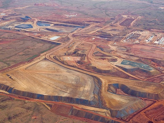 Citic Pacific Mining's Sino Iron ore mine in the Pilbara region of Australia.
