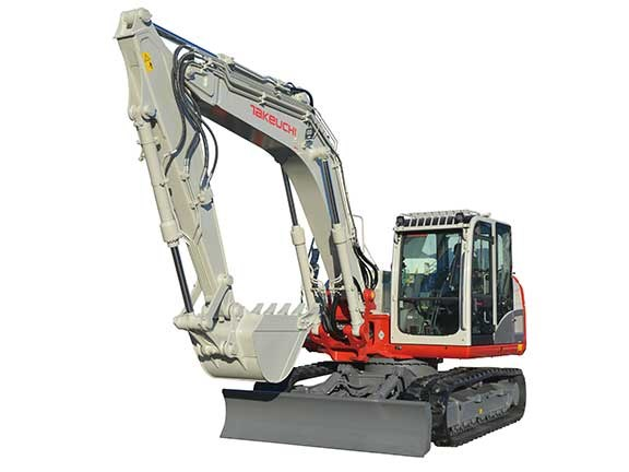 Takeuchi TB2150 excavator on display