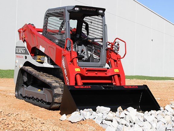 Takeuchi TL12V-2 vertical lift compact track loader.