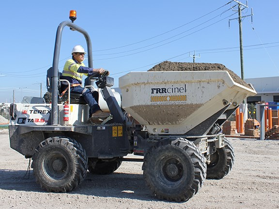 The Terex TA3.5 site dumper.