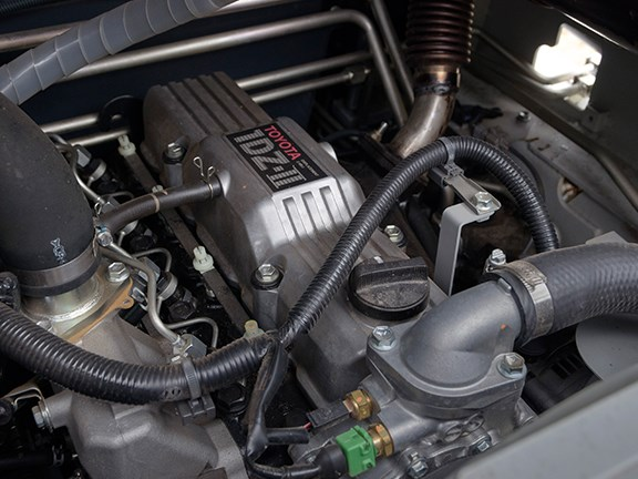 The Toyota iDZ-II is a 2.5-litre diesel that delivers 39kW at 2400rpm.