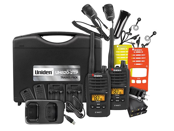 The Uniden UH820S UHF radio Tradies Pack