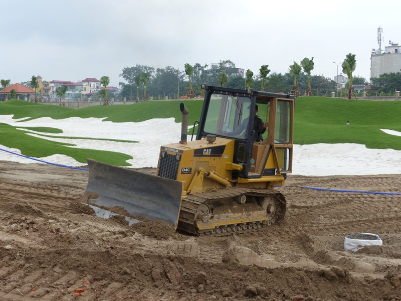 The Vietnam Military and Korean Government Joint Venture Golf Course under construction.