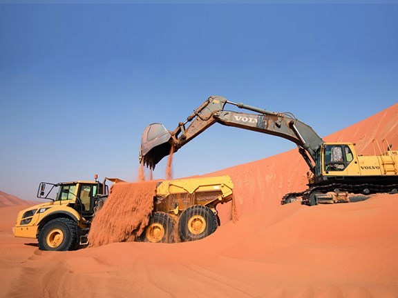 Building a road through the Empty Quarter demanded a lot from the Volvo earthmovers.