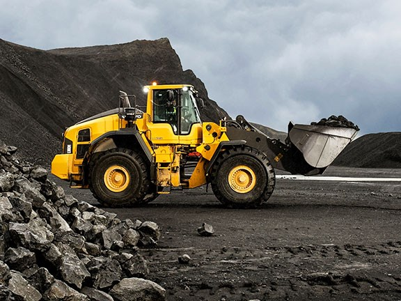 The Volvo L180H wheel loader.
