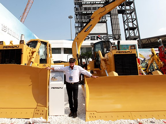 Bauma China 2014: A pair of Pengpu dozers.