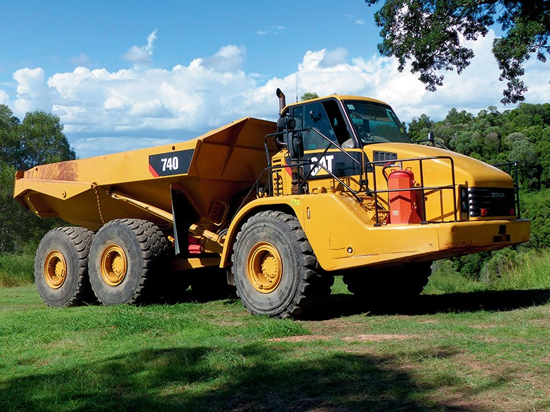 review used cat 740 articulated dump truck. Black Bedroom Furniture Sets. Home Design Ideas