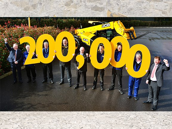 JCB has produced its 200,000th Loadall telehandler
