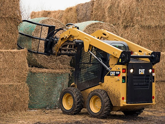 Cat Bale Grab for loaders with a universal, skid-steer-type interface