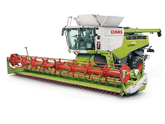 Harvesters like this Claas Lexion 780 are still in demand late in the season