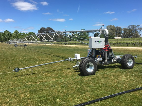 The new Upton irrigator at All Saints Winery