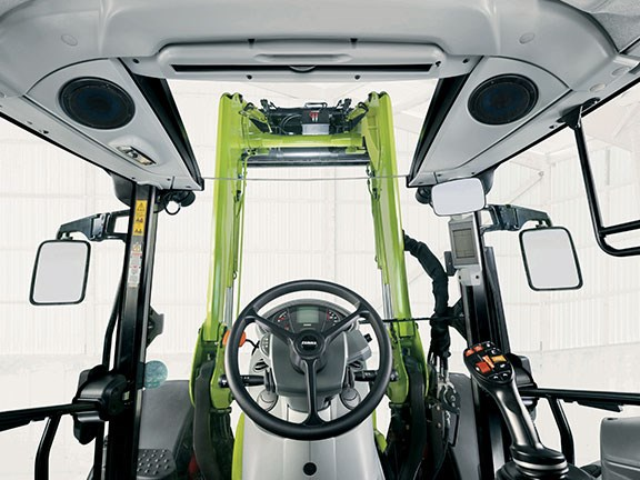 The cab features a 2.4-cubic-metre one-piece windscreen
