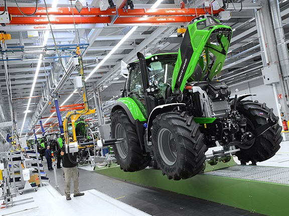 An assembly line at Deutz Fahr Land