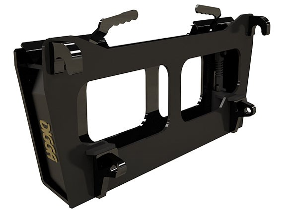 Digga's euro hitch to skid steer adaptor frame