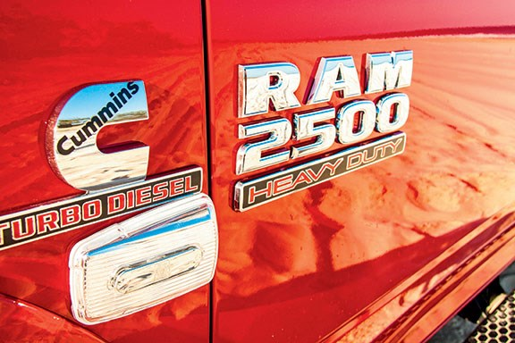 The Ram 2500 badge