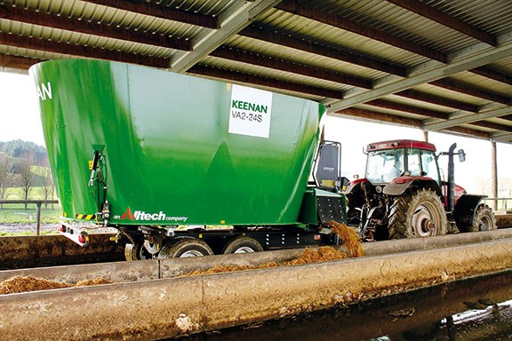 The Keenan VA2-24S behind a tractor