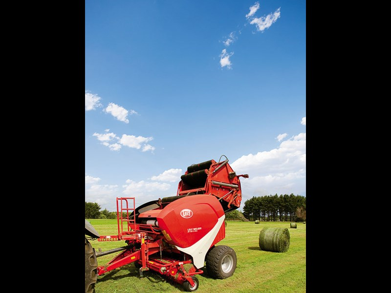 The Lely RP 160 baler in test mode