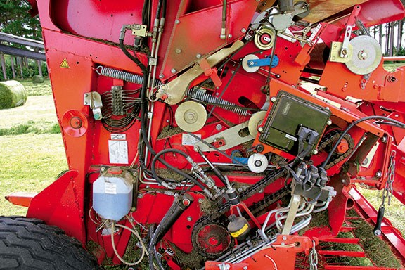 The RP 160 baler is easy maintenance