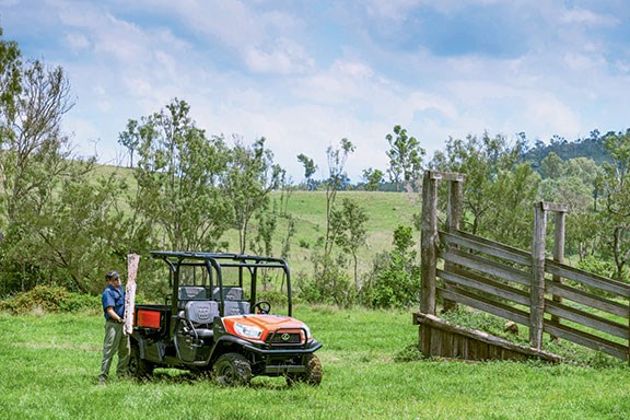 The Kubota has a top speed of 40km/h