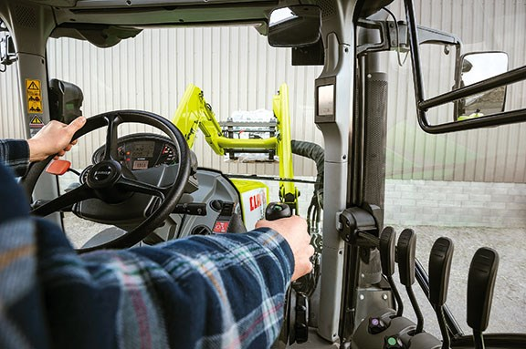 The Arion 620 has great visibility for loader work