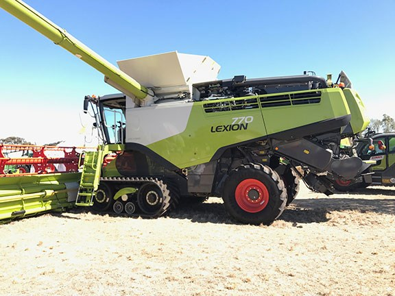 Claas Lexion 770 Combine Harvester at Wimmera Field Days