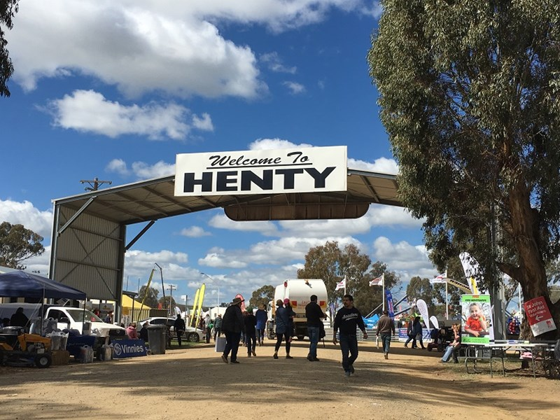 Farmers and suppliers came from all around to be at Henty to check out the latest gear