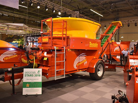The new Teagle mobile hammer mill on display