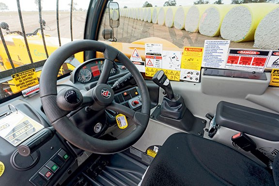 The Dieci Cotton pro 70.10 telehandler's cabin