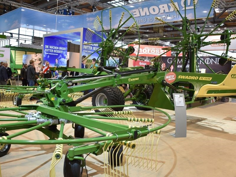 The four rotor Swadro TC1370 rake has been introduced in Europe