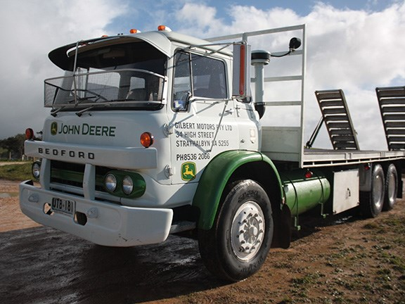 John Deere dealership Gilbert Motors' 1973 KM Bedford truck.