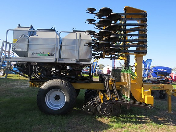The Serafin 6m double disc seeder is designed to withstand Australia's tough conditions.