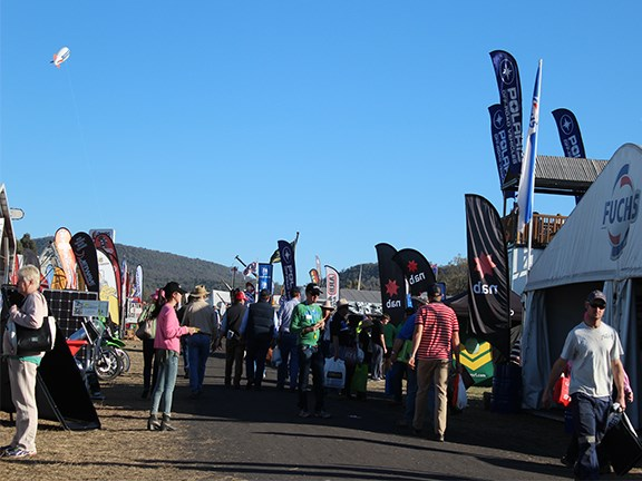 The sun came out for attendees and stallholders during the 2015 AgQuip event.