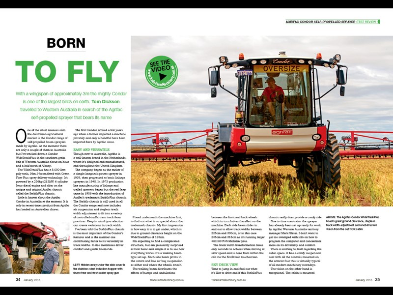 Agrifac Condor sprayer review