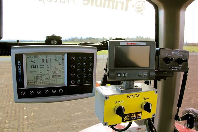 In-cab controllers help keep the drill in check.