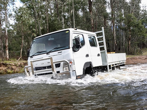 Wading depth iin ther Fuso Canter is only 330mm.