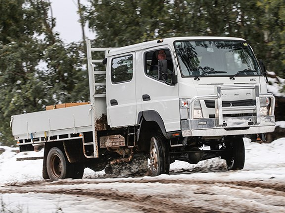 Traction in the slush is the biggest advantage of the little 4x4.