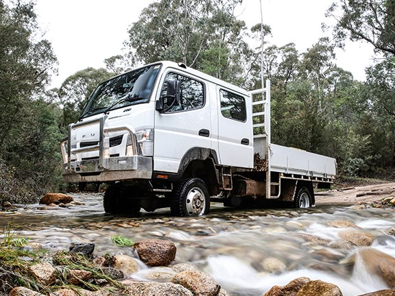 With a 2-speed transfer case, the Canter 4x4 is quite a versatile unit.